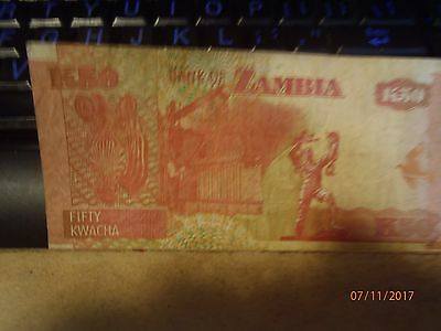 Zambia #37G 2007 Circulated 50 Kwacha Banknote Currency Bill Note Paper Money