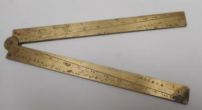 Antique Brass Sector  18th C - Proportional Compass Ruler c1750