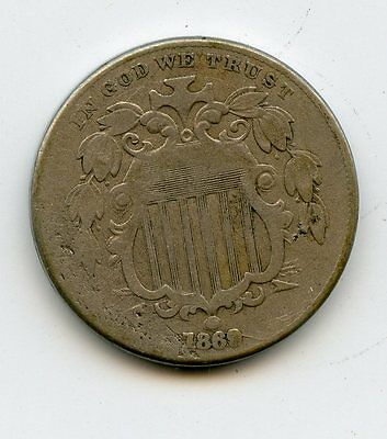1869 Shield Nickel ~ Good + ~   *hucky*