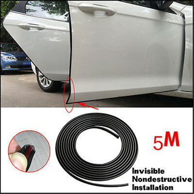16ft  Black Car Door Edge Protection Anti-scratch Guard Moulding Protector Strip