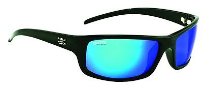 New Polarized Calcutta Prowler Sunglasses Shiny Black/Blue Mirror 64mm PR1BM