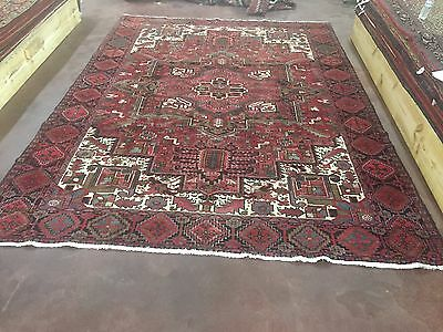 Hand Knotted Persian TABRIZ- Heriz Antique Look Rug Carpet 9 x 12 ,9'x12'3""