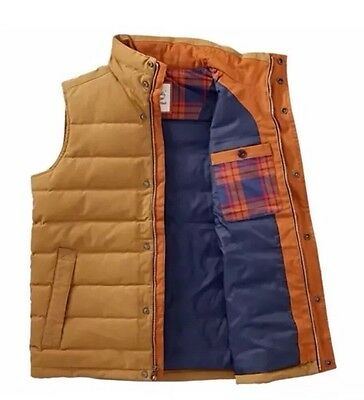 Timberland Men's MT Davis Waxed Down Vest Style A1CAD. Size: XL