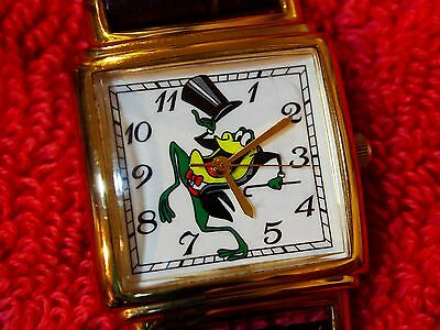Warner Brothers Michigan J Frog Watch Rare & Very Hard To Find Not Disney