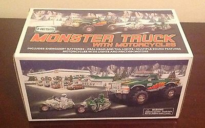 2007 Hess Monster Truck With Motorcycles New In Box