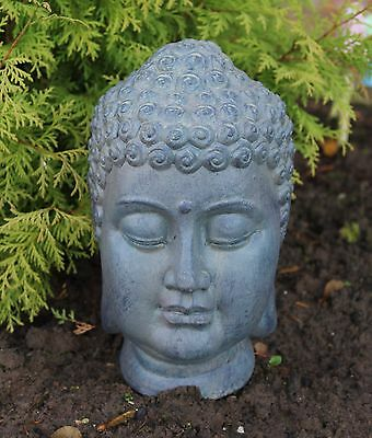 Buddha Head Sculpture Ornament indoor outdoor garden Home Decor Stone Ceramic