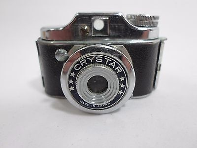 Vintage Crystar Made In Japan Mini Baby Spy Camera With Original Leather Case