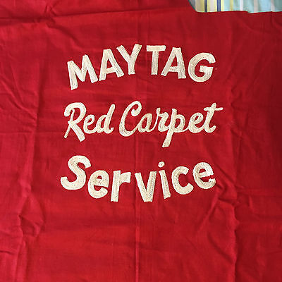 MAYTAG RED CARPET SERVICE EMBROIDERED FLANNEL PROTECTIVE CLOTH 35x44