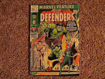 Marvel Feature #1. 1st. app. of The Defenders. VG+. NETFLIX show soon. Key issue