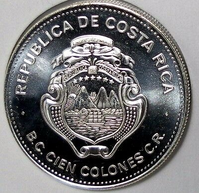 1979 Costa Rica 100 Colones International Year of the Child 925 Silver 35 Grams