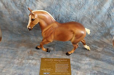 BREYER  JAH  CONNOISSEUR 2002 MOLLY MAQUIRE ~Wixom Percheron mold with COA/BAG