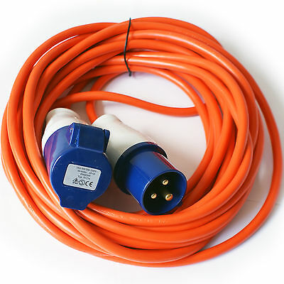10m – 16A Mains Hook Up Power Extension Cable/Lead – Caravan/Motorhome Camp Site