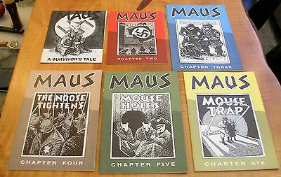 Lot Of 6 Original Maus Comics By Art Spiegelman High Grade Pulled From Raw Mags