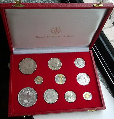 1915-1953 Independence José Martí Set of 10 Silver Coins,With Box and COA