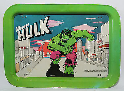 Vintage The Incredible Hulk 1979 Marvel Comics Group Metal Food Tray Comic Hero