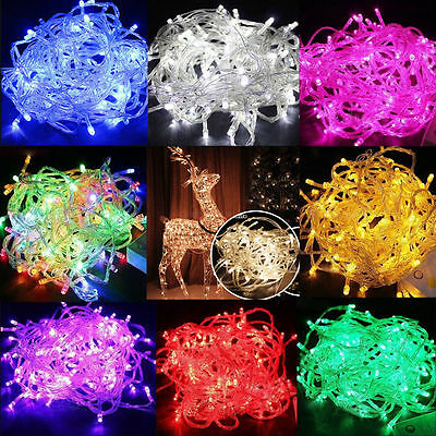 30M/100M/200M LED Christmas Xmas Tree Party Indoor Outdoor Fairy String Lights
