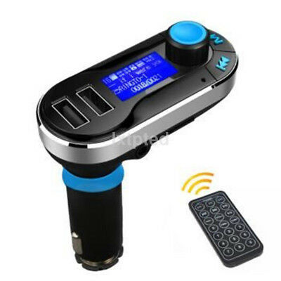 Dual USB Car Charger AUX FM Transmitter MP3 Music Player For iPhone Samsung AU*