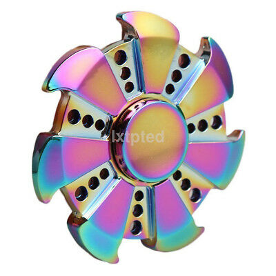 EDC Fidget Hand Spinner Multicolor Focus Kids Adults Finger Toy Gyro AU*
