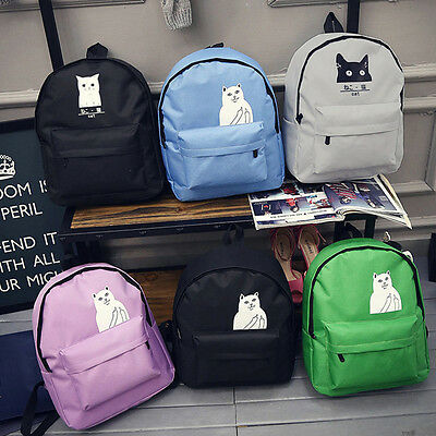 Boys Girls Retro Backpack Rucksack School College Travel Laptop Work Bag Small