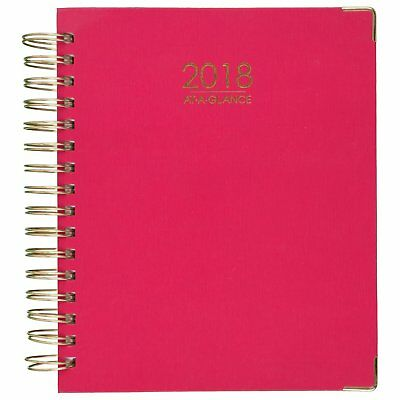 At-A-Glance 609980527 Harmony Weekly Monthly Hardcover Planners, 7 X 9, Pink