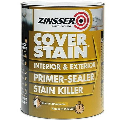 Zinsser Cover Stain® Primer Sealer Stain Block Stop Killer Multi-Surface 500ml