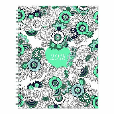 Rediform C292001 Doodleplan Monthly Planner, 8 7/8 X 7 1/8, Coloring Pages, 2018
