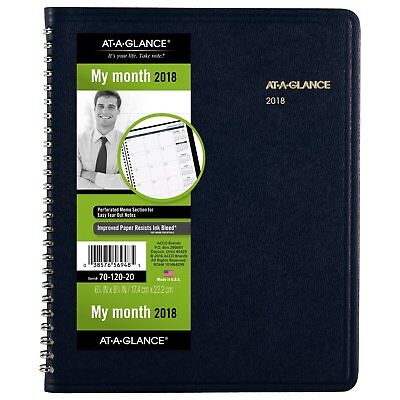 At-A-Glance 701202014 Monthly Planner, 6 7/8 X 8 3/4, Navy, 2018