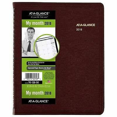 At-A-Glance 701205014 Monthly Planner, 6 7/8 X 8 3/4, Winestone, 2018