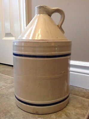 1889-1924 Toronto Pottery Co. Mfgs. Striped Finger Crock