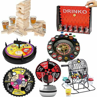 Adult Drinking Games Drinko Roulette Tipsy Tower Dart Shots Alcohol Party Fun