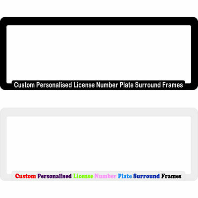 Custom Personalised License Number Plate Surround Frame Car Advertising Business