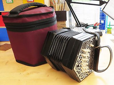 Lachenal metal ended G/D 40 button concertina. Professionally retored. Beautiful