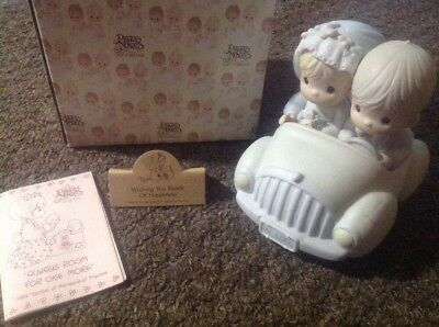 Wishing Roads Happiness Just Married Precious Moments wedding car Enesco 520780