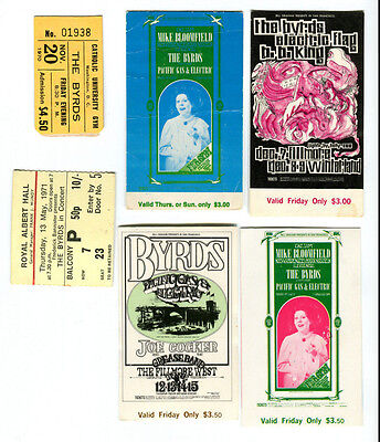 The BYRDS vintage ticket collection (Beatles related - not signed)