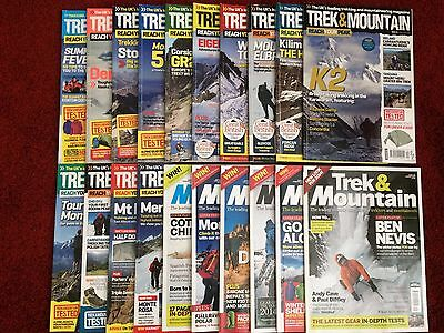 Trek and Mountain Magazines x21 *Very Good/Excellent condition*