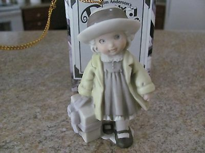 "Ornament - Kim Anderson - ""bringing Good Cheer To All I Hold Dear""  - By Enesco"