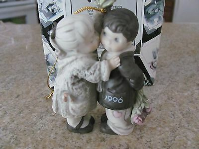 "Ornament - Kim Anderson - ""a Holiday Greeting Sealed With A Kiss""  - By Enesco"