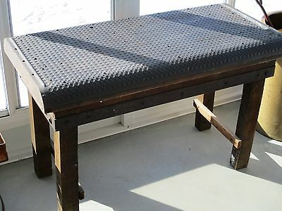 Industrial Steampunk Table with Metal Top