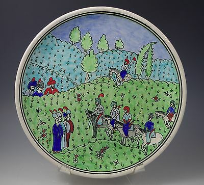 Vintage Kutahya Turkey Iznik Plate Islamic Art Hand Painted  Artist Signed 9""
