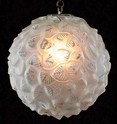 HUGE Outstanding & Rare signed R.Lalique France Plafonnier Provence 1927