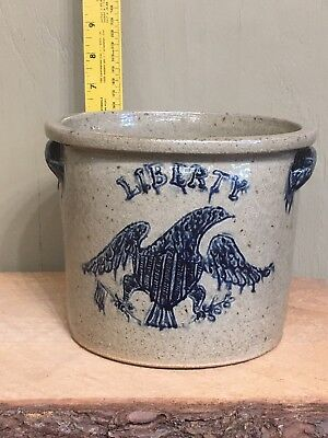 Decorated Stoneware Crock Michel Bayne Wood Fired