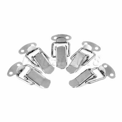 5pcs Silver Hardware Cabinet Boxes Chest Spring Loaded Latch Catch Toggle Hasp