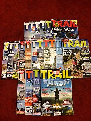 VARIOUS TRAIL MAGAZINES x20 2014 - 2016 *Very good condition*