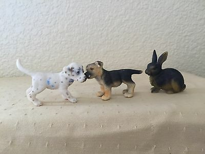 schleich puppies and bunny very cute
