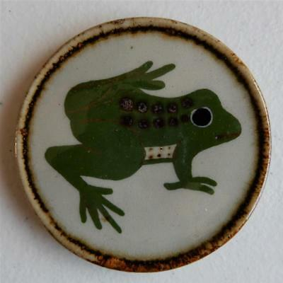 """Frog"" Drink Coaster or Wall Art Mexican Ceramic Tile, Tonala Art"