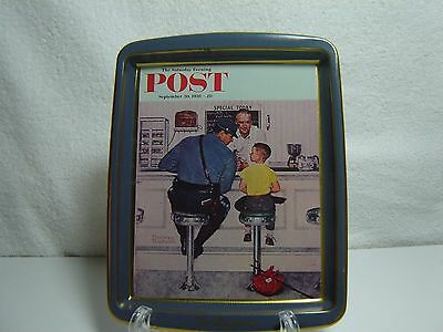 Saturday Evening Post Norman Rockwell Metal Tip Tray Runaway Made In England