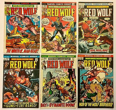 Red Wolf #1 2 3 4 5 6 LOT of 6 Marvel Bronze FN- 5.5 to VF- 7.0 range 1972 NICE!