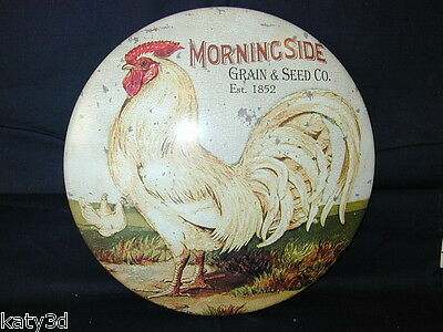 Morningside  Grain & Seed Rooster  Advertising Metal Sign New Decorative chicken