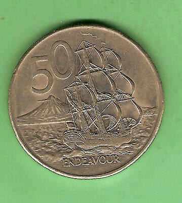 1984  New Zealand 50 Cent Coin