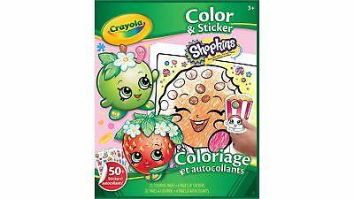 Crayola Shopkins Coloring Pages and Sticker w/ Colouring features, Ages 3+